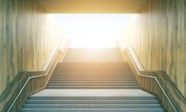 Trappa som leder till solsken Royaltyfri Bild
