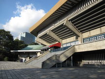 Trappa som leder till stadion för Yoyogi den nationella gymnastiksalarena i Tokyo royaltyfri fotografi