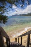 Trappa som ner leder till stranden Royaltyfri Foto