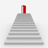 trappa som ska tops Arkivfoto