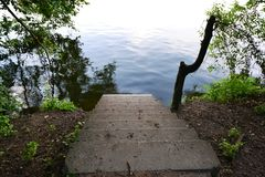 trappa som ska waters Royaltyfri Fotografi