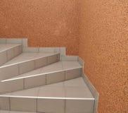 Trappa som stiger ned eller som stiger Arkivbilder