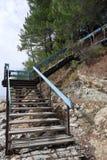 Trappa till bergen Royaltyfria Foton