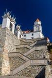 Trappa till den Bratislava slotten, Slovakien Arkivbilder