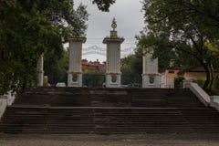 Trappa till det historiska museet av Khabarovsk royaltyfri fotografi