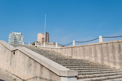 Trappa till fortSaint Nicolas, Marseille, Frankrike Arkivfoton