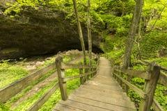 Trappa till grottan Royaltyfri Foto