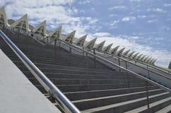 Trappa till himmelstaden av konster och vetenskaper av Valencia Spain arkivfoton