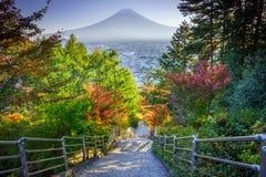 Trappa till Mt Fuji Fujiyoshida, Japan arkivbilder