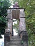 Trappa till rembron i den thailändska templet, Songkhla Arkivfoton