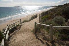 Trappa till stranden Fotografering för Bildbyråer