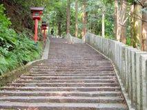 Trappa till tempelet Royaltyfri Foto