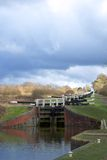Trappa Wiltshire England för Caen kullelås Royaltyfri Fotografi