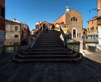 Trappan av Venedig italy royaltyfri fotografi
