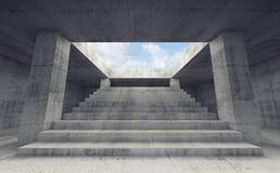Trappan som upp till går himlen, 3d framför stock illustrationer