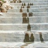 trappan stenar white Arkivfoton