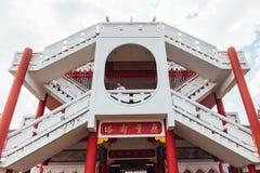 Trappan till överkanten av Keken Lok Si Temple är en buddistisk tempel i Penang och är en av de bästa bekanta templen på ön royaltyfria bilder
