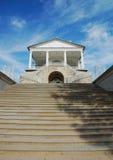 Trappan till Cameron Gallery i Catherine parkerar i staden av Pushkin Arkivbilder