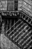 Trappan till gammalt fördärvar Arkivbild