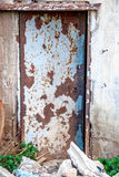 Trappe abandonnée d'usine Photographie stock