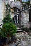 Trappe arrière de château de Larnach Photographie stock libre de droits