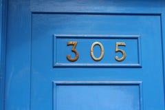Trappe bleue Photos libres de droits