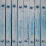 Trappe bleue en métal Photos libres de droits