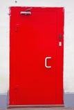 Trappe classique rouge en métal Photos stock