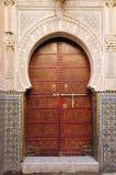 trappe décorée Maroc Photographie stock