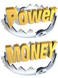 Trappe d'argent de pouvoir Images libres de droits