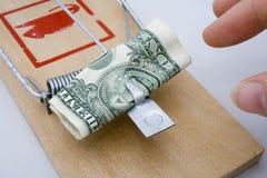 Trappe d'argent - dollar US Images libres de droits