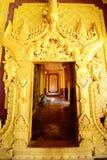Trappe d'or de palais de Kambawzathardi Images libres de droits
