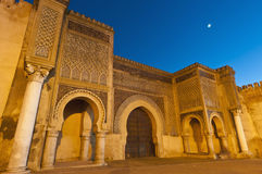Trappe d'en Nouar de Bab Jama chez Meknes, Maroc Photographie stock libre de droits