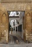 Trappe d'entrée décorée à Cordoue Images libres de droits
