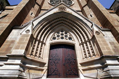 Trappe d'entrée de cathédrale de rue Mary Photos stock