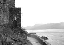Trappe de château chez Eilean Donan Images stock