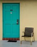 Trappe de chambre de motel photo stock