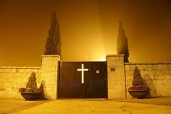 Trappe de cimetière Photo libre de droits