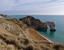 Trappe de Durdle et littoral de Dorset, Angleterre Photos stock