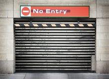 Trappe de garage en métal Photo stock