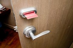 Trappe de Keycard Images stock