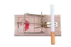 trappe de souris de cigarette photo libre de droits