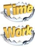 Trappe de travail de temps Photos libres de droits