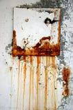 Trappe en acier de rouille Image libre de droits
