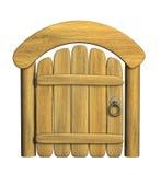 Trappe en bois antique fermée Images stock