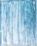 trappe en bois bleue Photos libres de droits