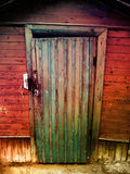 Trappe en bois de cru Photo stock