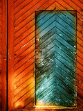 Trappe en bois de cru Image stock
