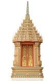 Trappe en bois de découpage d'or antique Image libre de droits