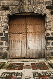 Trappe en bois de vieille ère espagnole Photo stock